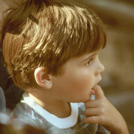 Obert Fittje: 'Barbaras Son', 1978 Color Photograph, Children. Artist Description:  This a photograph of a fellow grad students son taken at a picnic. ...