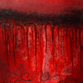 Obert Fittje: 'Bloody War', 2008 Oil Painting, War. Artist Description:     This is a companion piece to The First Plague of America: Blood and the painting W* A* R.  This painting is intended to be a frightening image of bloody war and represents my feelings about war.      ...