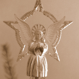Obert Fittje: 'Christmas Angel', 1993 Other Photography, Holidays. Artist Description:  This is the Christmas tree angel that always sat on top of our Christmas tree while I was growing up. ...
