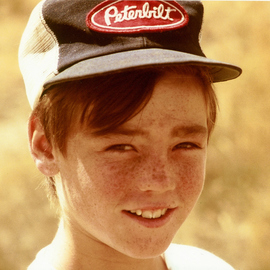 Obert Fittje: 'David', 1983 Color Photograph, Children. Artist Description:  This is a photo of my nephew David complete with freckles. ...