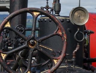 Obert Fittje: 'Iron Wheel', 2007 Color Photograph, Trains. Artist Description: This is a color image of the wheel and gauge on an old engine that was used on the cog wheel train up Mount Washington in New Hampshire. ...