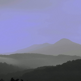 Obert Fittje: 'Neon Mountains', 2006 Color Photograph, Mountains. Artist Description:  This is a photo of the Smoky Mountains passed through a filter which makes the colors look almost neon electric. ...