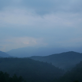 Obert Fittje: 'Smoky Mountains I', 2007 Color Photograph, Mountains. Artist Description:  A photo of the Smoky Mountains in the mist. ...
