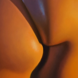 Tim Tyler: 'Abstractus Posterious ', 2016 Oil Painting, nudes. Artist Description:  golden candlight nude women ...