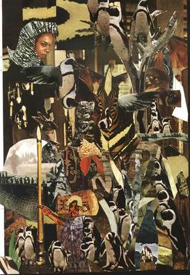 Collage by Oksana Linde titled: Alquitrix II, created in 2008