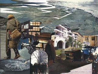 Collage by Oksana Linde titled: Busqueda sin fin, 2005