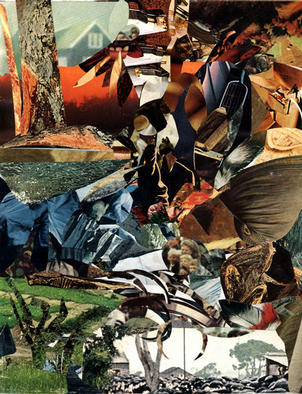 Collage by Oksana Linde titled: Dreams III, 1996