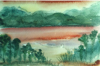 Artist: Oksana Linde - Title: Lago Perdido I - Medium: Watercolor - Year: 1992