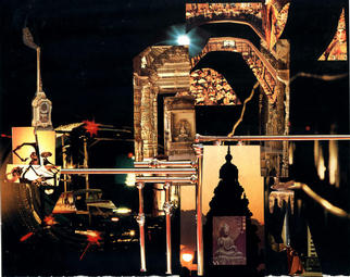 Collage by Oksana Linde titled: Night border, 1996
