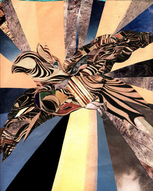 Collage by Oksana Linde titled: Vuelo, 2003