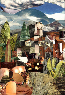 Collage by Oksana Linde titled: composition C, created in 2003