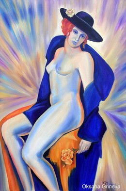 Erotic Oil Painting by Oksana Grineva Title: La Vie en Rose, created in 2013