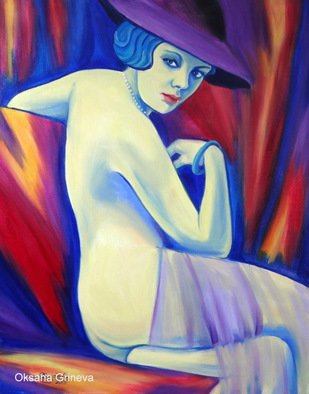 Artist: Oksana Grineva - Title: Tallulah - Medium: Oil Painting - Year: 2013
