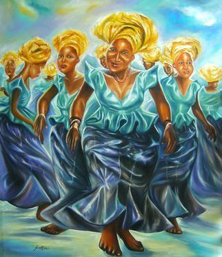 Olaoluwa Smith Artwork contemporary dancers, 2010 Oil Painting, People