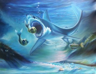 Olaoluwa Smith Artwork shark, 2010 Oil Painting, Fish