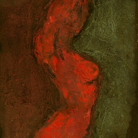 Olga Bukowska: 'A Nude', 2014 Oil Painting, Body. Artist Description:      woman, nude, body ...