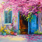 blooming courtyard By Olha Darchuk