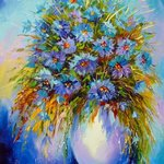 bouquet of cornflowers By Olha Darchuk