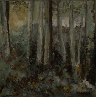 Trees Oil Painting by Olivera Kovacevic Title: Song of Osiriand, created in 2003