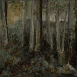 Olivera Kovacevic Artwork Song of Osiriand, 2003 Oil Painting, Trees
