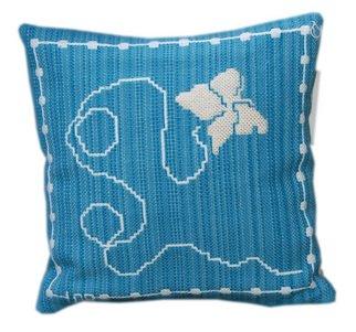Lisbet Olin-ranstam Artwork 'Butterfly', 2006. Crafts. Animals. Artist Description: Pillow, handwoven in Scandinavian double- weft......