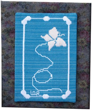 Lisbet Olin-ranstam Artwork 'Butterfly', 2006. Fiber. Animals. Artist Description: Wallhanging, handwoven in Scandinavian double- weft and mounted on a cloth- covered frame ......