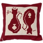 Pillow Cat and Fish By Lisbet Olin-Ranstam