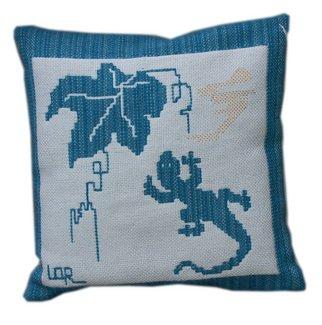 Lisbet Olin-ranstam Artwork 'Sunny Wall', 2006. Fiber. Animals. Artist Description: Pillow, handwoven in Scandinavian double- weft......