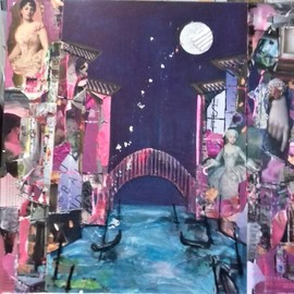 moon over romantic venice By Liz Taylor