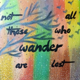 Pooja Shah: 'A quote for the avid Wanderer, Commissioned', 2014 Acrylic Painting, Travel. Artist Description: