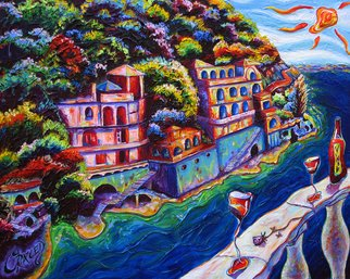 Christopher Oraced Decaro: 'A View to Remember', 2008 Mixed Media, Surrealism.  The coastal breeze plays a colorful melody upon my soul.  ...