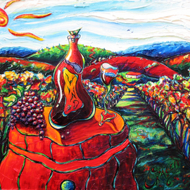 Christopher Oraced Decaro Artwork Bravo, Vino, 2010 Acrylic Painting, Surrealism