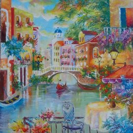 Asia Djibirova: 'venuce grand canal', 2017 Oil Painting, Cityscape. Artist Description: Original oil painting. One of Kind...
