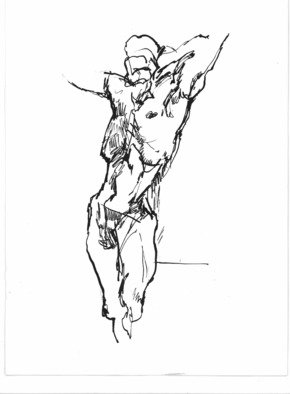 Dario Raffaele Orioli Artwork croquies 3, 1976 Ink Drawing, Nudes