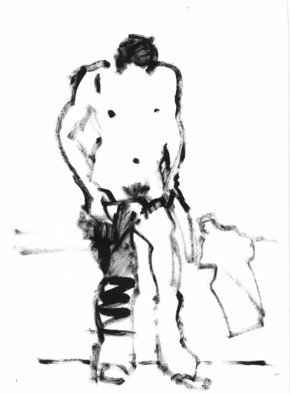 Dario Raffaele Orioli Artwork croquies 4, 1976 Ink Drawing, Nudes