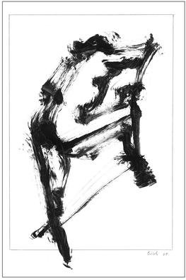 Dario Raffaele Orioli Artwork croquies 5, 1976 Ink Drawing, Nudes