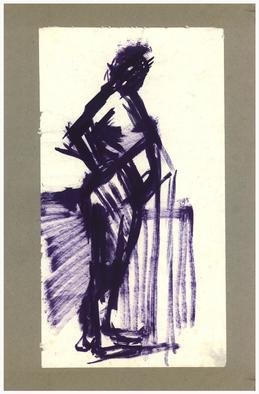 Dario Raffaele Orioli Artwork croquies 9, 1977 Ink Drawing, Nudes