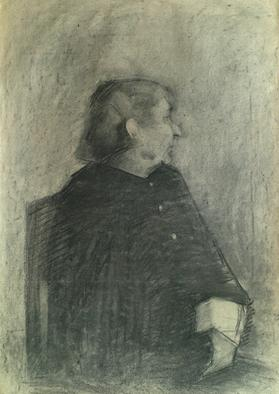 Dario Raffaele Orioli Artwork Portraites from Academy 3, 1976 Charcoal Drawing, Portrait