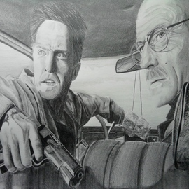 Stephanie Lopresti Artwork No Going Back: Breaking Bad, 2013 Pencil Drawing, Famous People