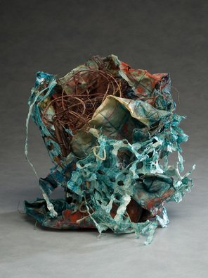 Elena Osterwalder: 'La Maceta', 2009 Other Sculpture, Abstract.  Amate, paper, hemp, all hand made and dyed with organic colors. ...