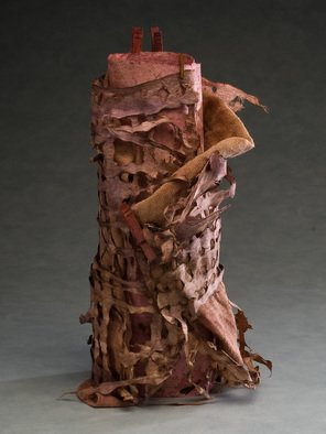 Elena Osterwalder: 'La Torre', 2009 Mixed Media Sculpture, Abstract.  Hand made amate, cloth , clothes'pins, dyed with organic colors. ...