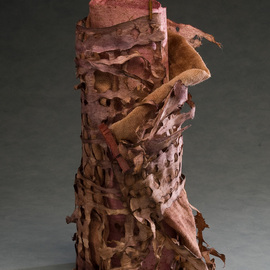 Elena Osterwalder: 'La Torre', 2009 Mixed Media Sculpture, Abstract. Artist Description:  Hand made amate, cloth , clothes'pins, dyed with organic colors. ...