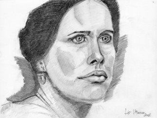 Nagy Oszkar Artwork Liv Ullmann, 2008 Pencil Drawing, Portrait