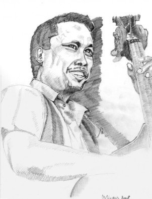 Nagy Oszkar Artwork Mingus, 2008 Pencil Drawing, Portrait