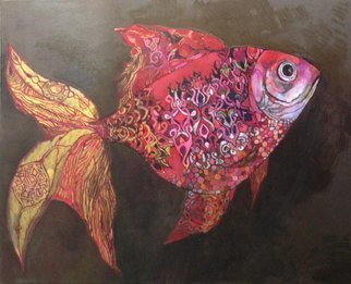 Olga Zelinska Artwork ruby fish, 2017 Oil Painting, Fantasy