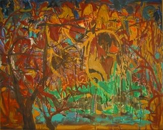 Artist: Padma Prasad - Title: Landscape2 - Medium: Oil Painting - Year: 2008