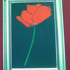 Sui Pal Artwork POPPY, 2011 Acrylic Painting, Floral