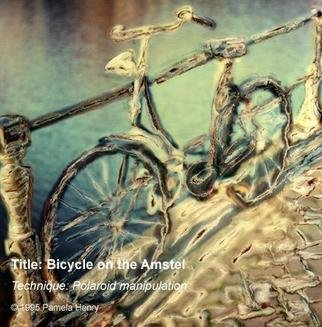 Pamela Henry: 'Bicycle on the Amstel', 1995 Polaroid Photograph, Transportation. Polaroid photography manipulation. Signed, archival photo lustre giclee print....