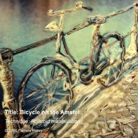 Pamela Henry: 'Bicycle on the Amstel', 1995 Polaroid Photograph, Transportation. Artist Description: Polaroid photography manipulation. Signed, archival photo lustre giclee print....