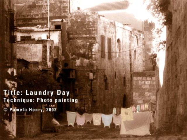 Pamela Henry  'Laundry Day', created in 2002, Original Photography Black and White.